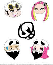 Team Skull: Small Poster by booshippl