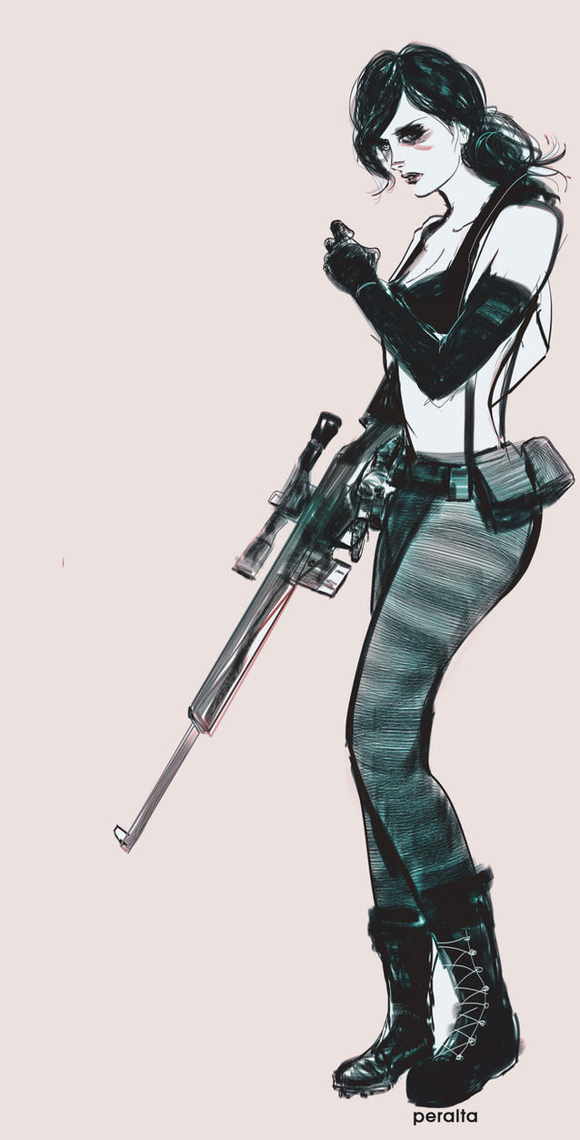 Line Drawing Quiet : Quiet mgsv by ch peralta on deviantart