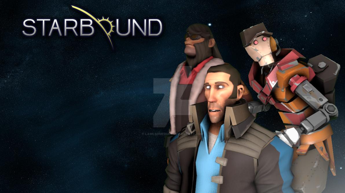 Starbound - SFM poster by Lawlsomedude