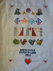 Sprite Stitch Stitch-A-Long Sampler by HiddenWithin