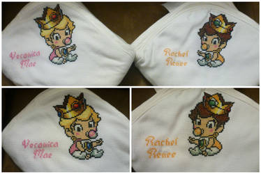 Baby Princess Peach and Baby Princess Daisy Towels by HiddenWithin