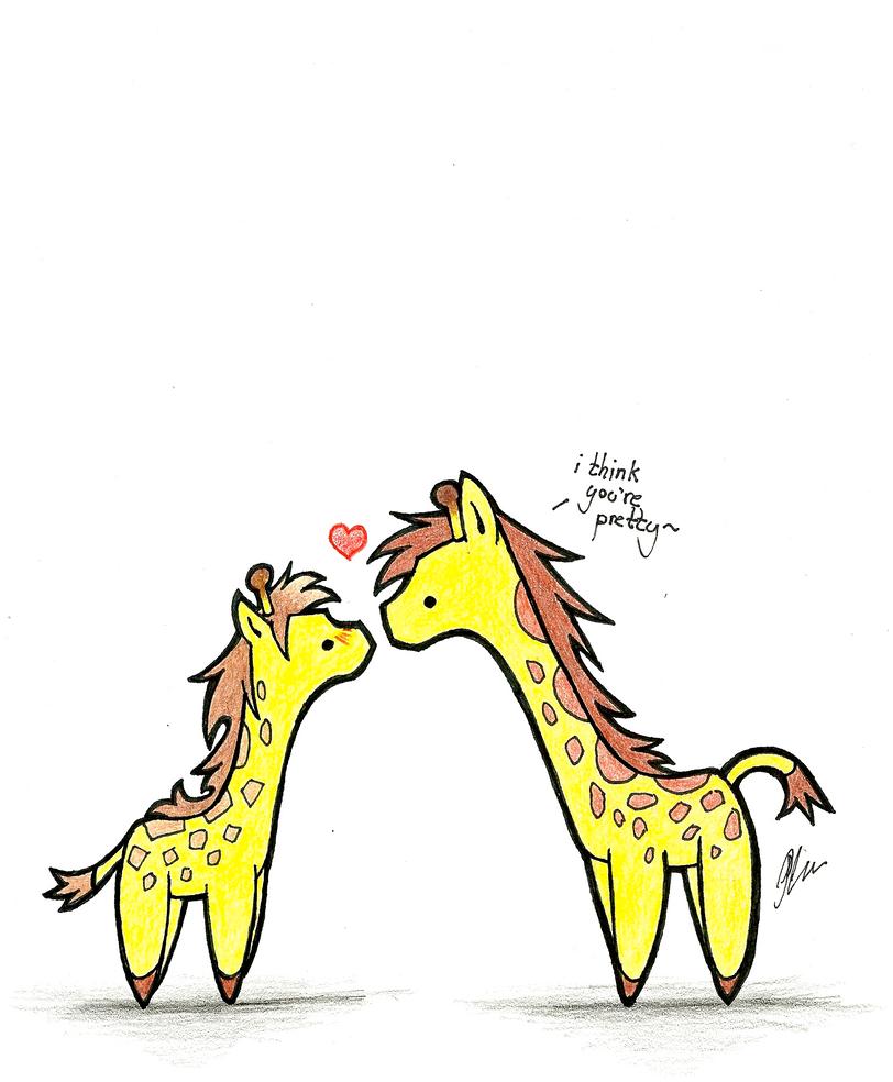 Gay Giraffe Love by ~RainbowShrimp on deviantART