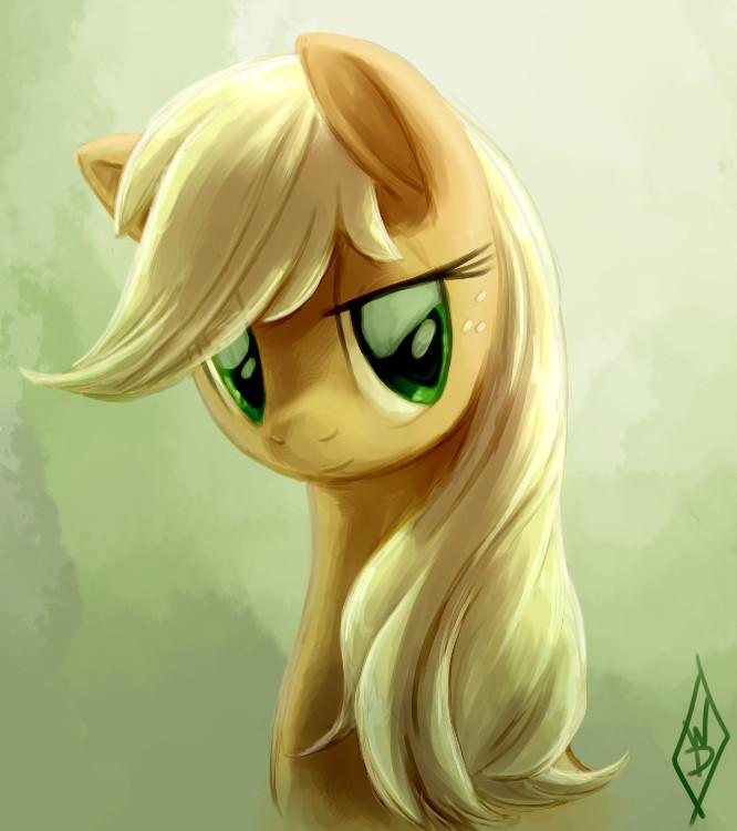 Applejack Portrait by WhiteDiamondsLtd