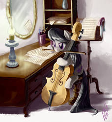 Commission: Etude for Cello, Op. 23 by WhiteDiamondsLtd