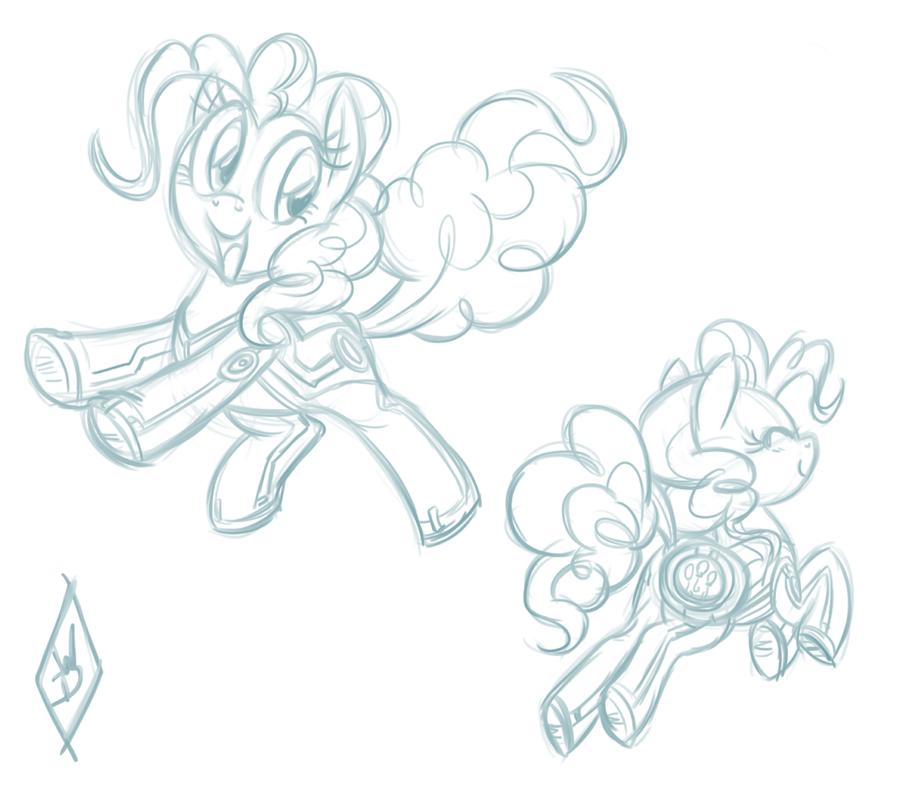 Pony-Tron Concept Art: Pinkie Pie by WhiteDiamondsLtd