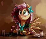 Bitter Alcoholic Fluttershy