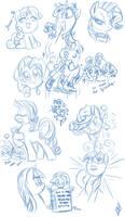Random Pony Sketchdump