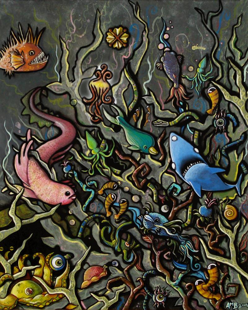 Alien Sea by playdough-princess