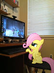 Filly Fluttershy Playing TF2