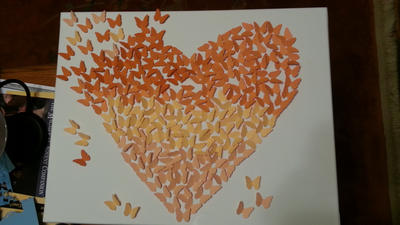 Ombre Butterfly Collage - Heart