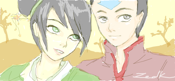Point Commission: Toph - x - Aang by Avriia on DeviantArt