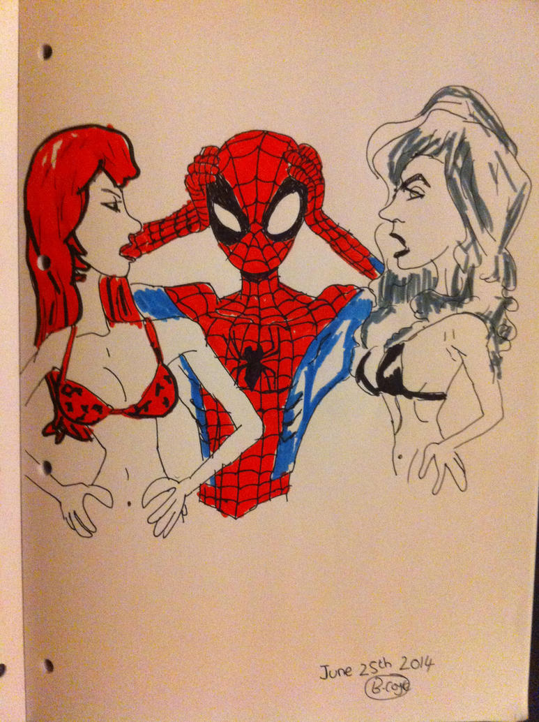Spider Man Mary Jane and Black Cat by TheTFArtist on ...