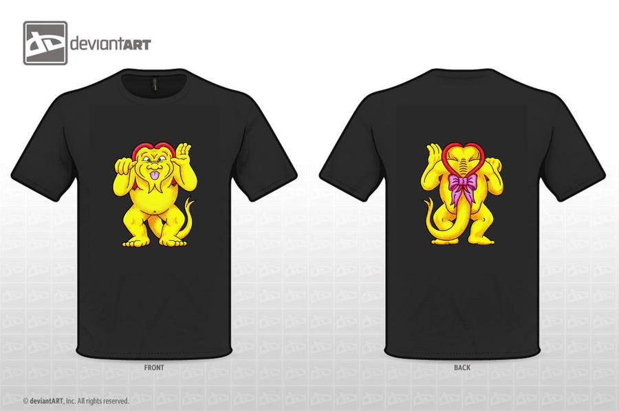 Moxy T-shirt Front + Back by MonstersUnbound