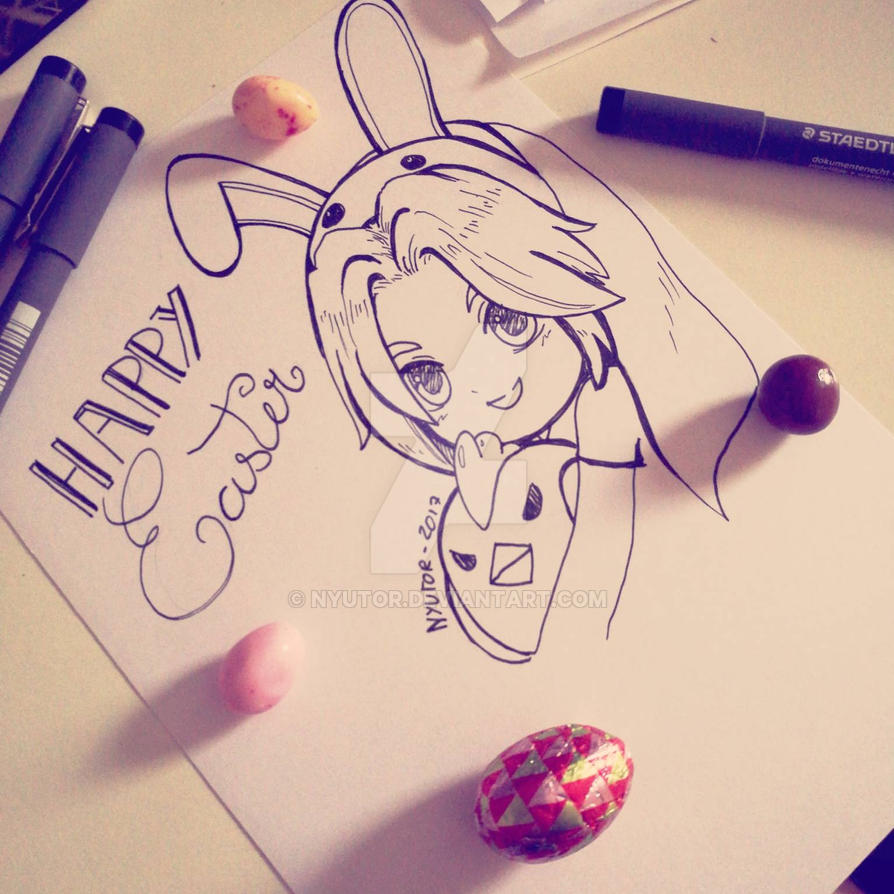 happy easter by nyutor