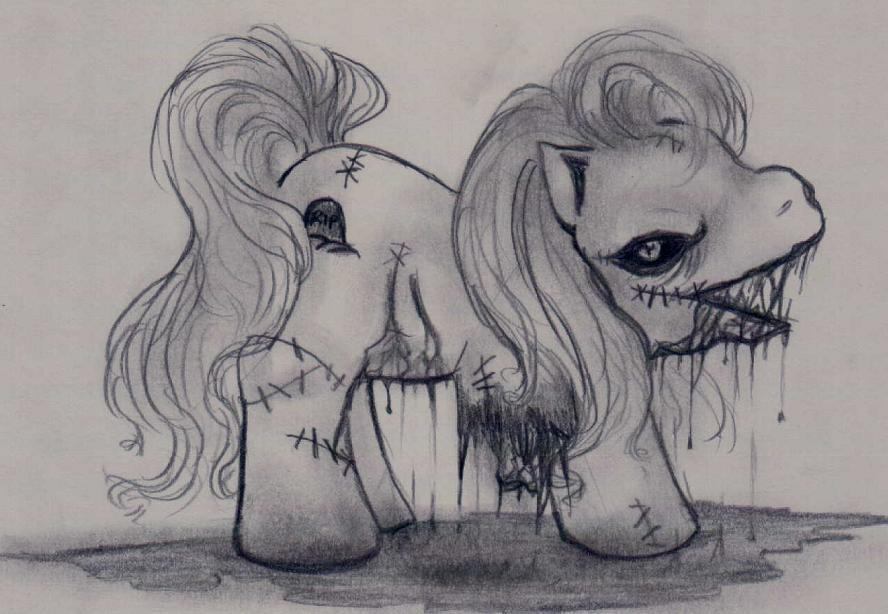Zombie Pony by alisiadragoon