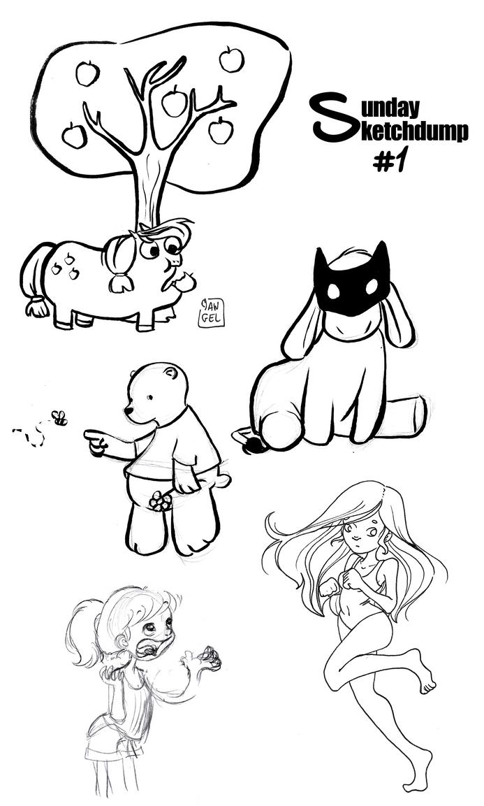 Sunday Sketchdump 1 by RaiseYourChickenWing