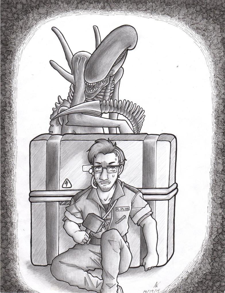 Markiplier: Alien Isolation by iloveanime9251