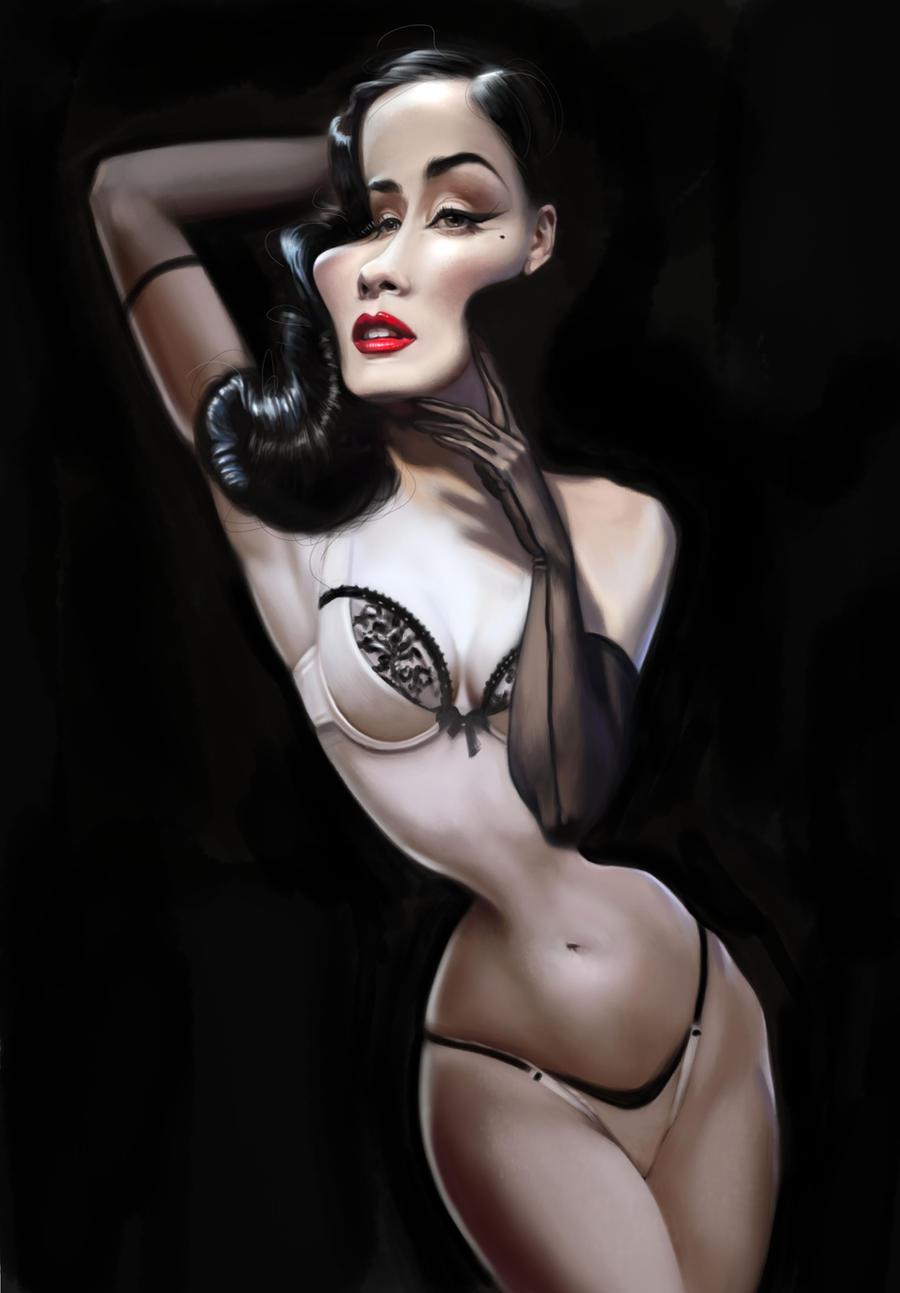Dita Von Teese by CarolineVos