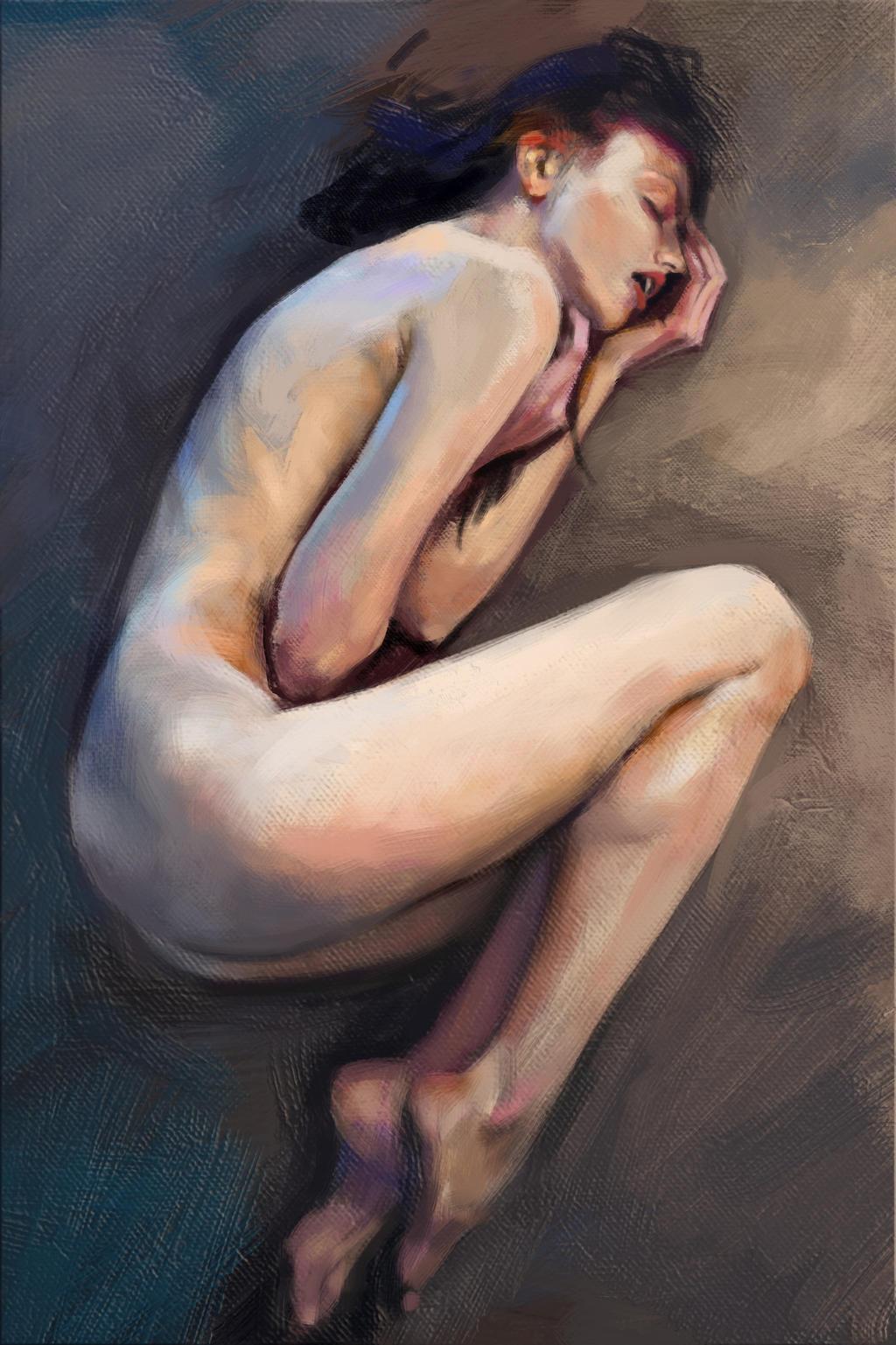 Nude Study by CarolineVos