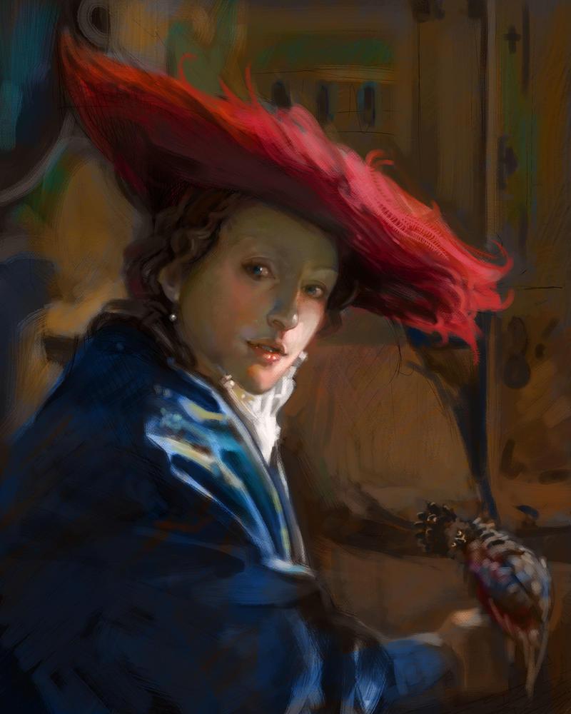 caroline vos illustration Red Hat Study by CarolineVos