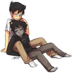 Heterosexual Cuddling by xBlimpcat