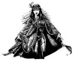 1920's Native American Vampire by Jorrigun