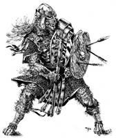 Werewolf Warrior by Jorrigun