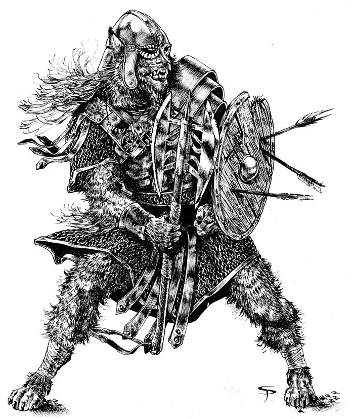 Werewolf Warrior by Jorrigun on deviantART Werewolf Warrior Art