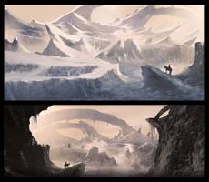 Snowy landscape by Remidubois