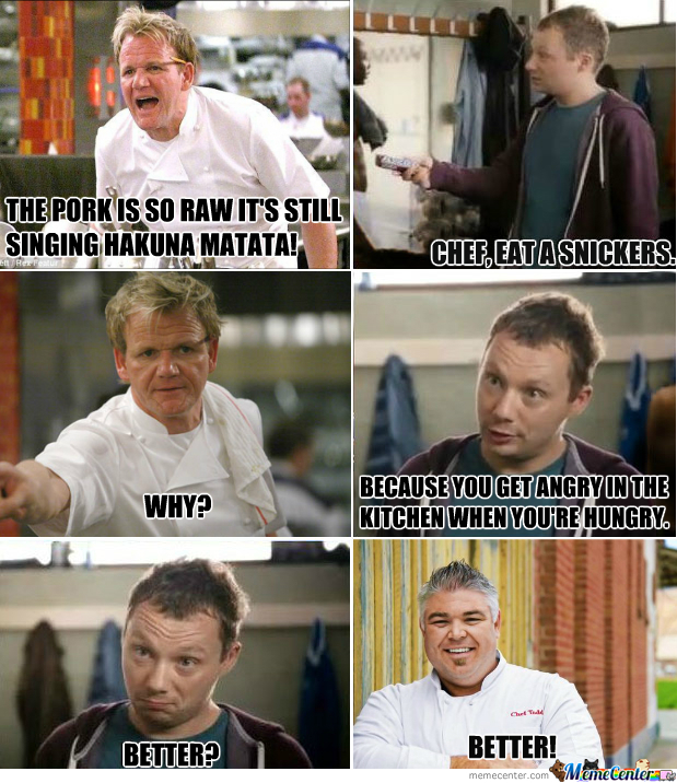 Snickers meme template chef eat a snickers by