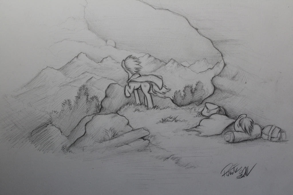 The Journey Ahead  (Rough Sketch) by Pajaga