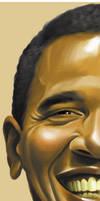 Obama half portrait