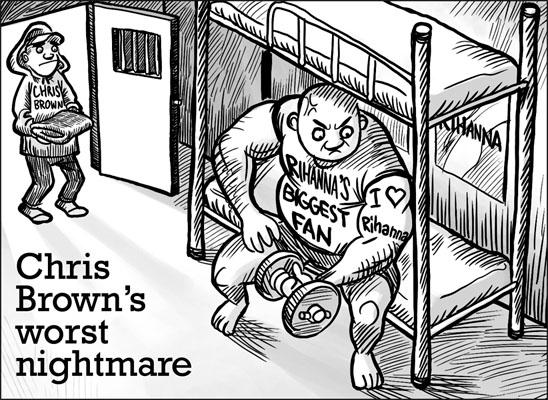 chris brown rihanna cartoon by chngch on deviantart