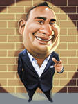Russell Peters Caricature