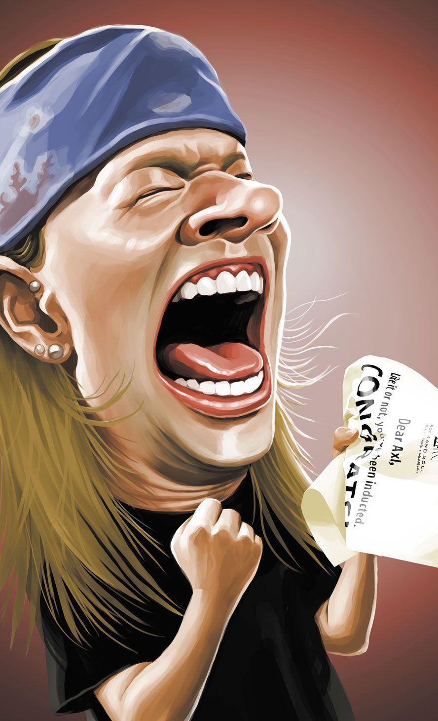 Axl Rose Caricature