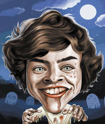 Harry Styles as a zombie