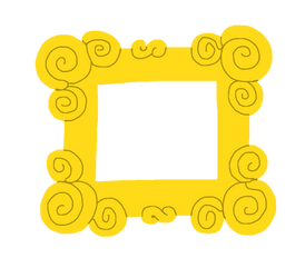 Blues Clues Yellow Frame by Casey265314