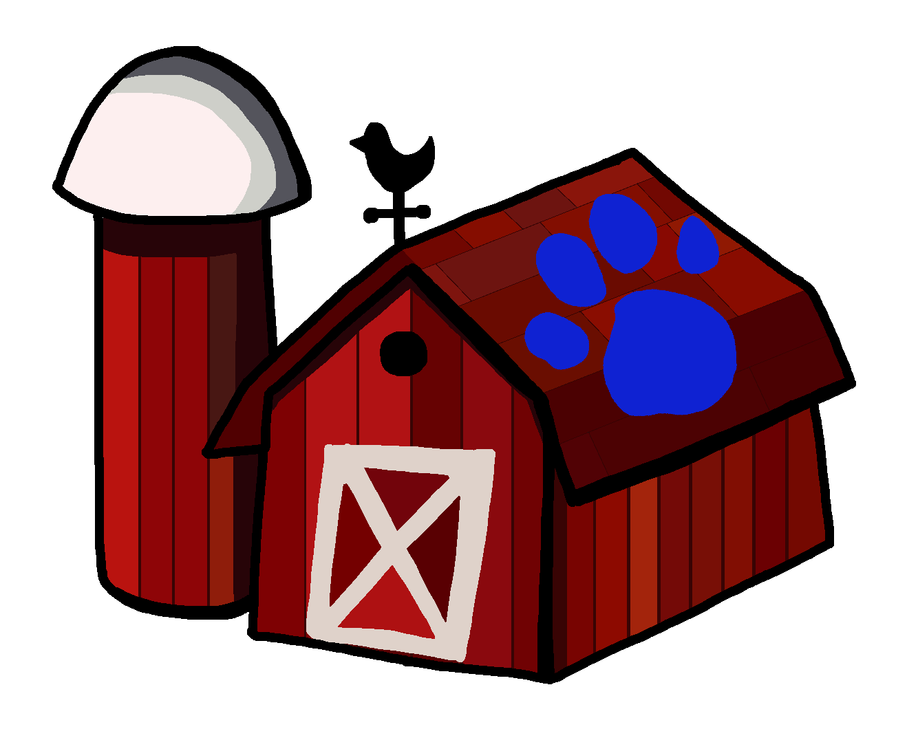 Blues Clues Barn With A Paw Print By Casey265314 On Deviantart The image is png format and has been processed into transparent background by ps tool. blues clues barn with a paw print by