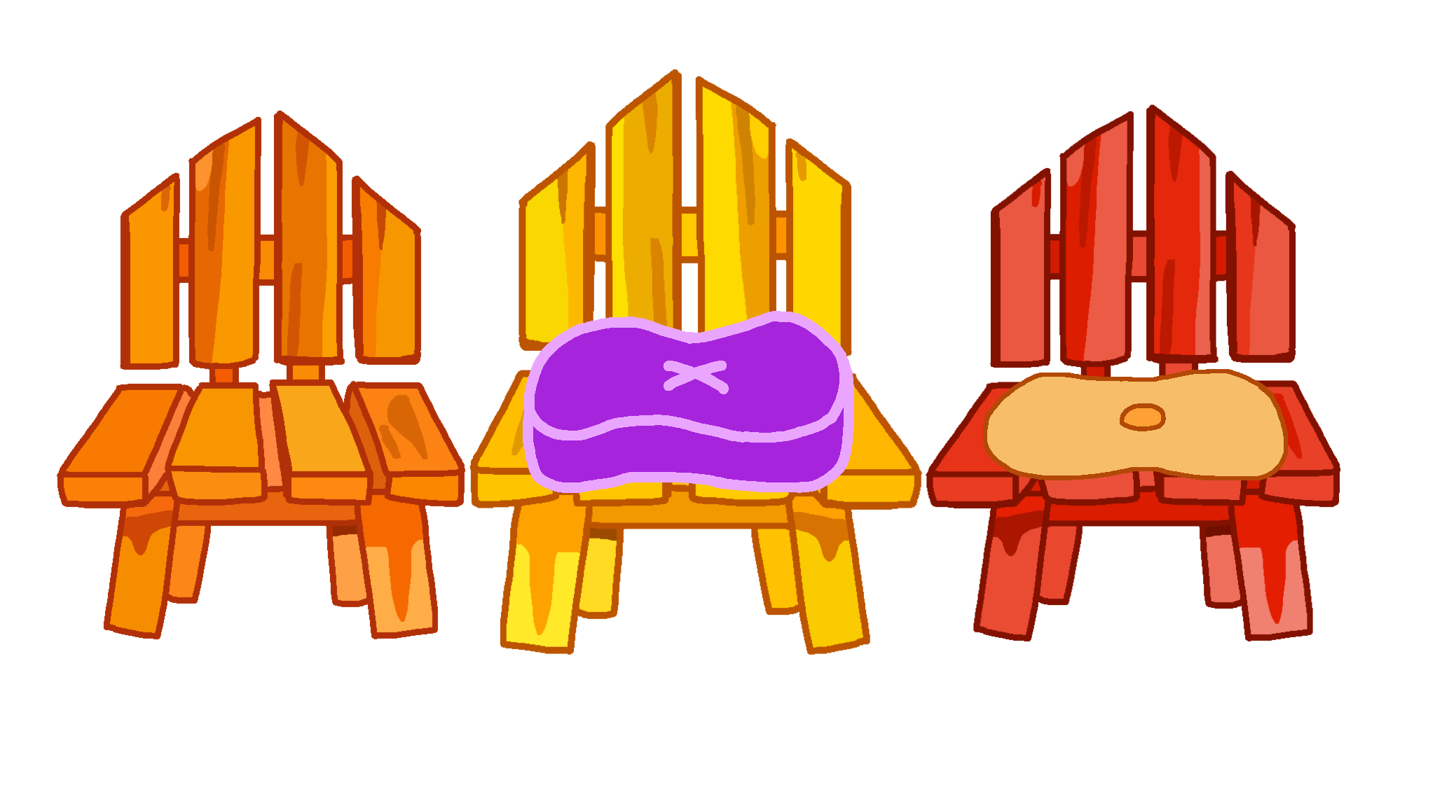 Blues Clues 3 Chairs From The Fairy Tale Ball By Casey265314 On Deviantart