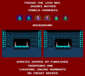 Friday the 13th NES Jason's Mother Sprite Sheet