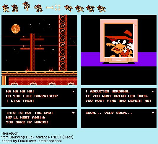 Darkwing Duck Advance (NES) (Hack) - Negaduck by FumuLover