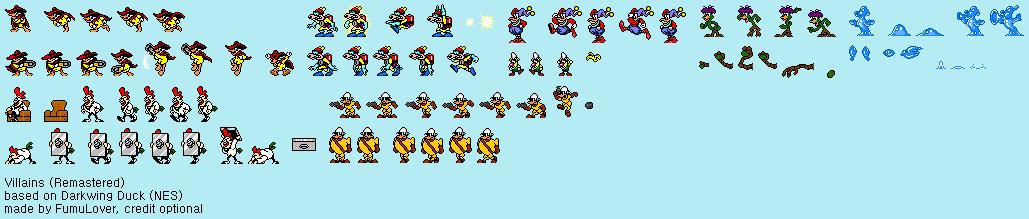 Darkwing Duck (NES) - Villains (Remastered) by FumuLover