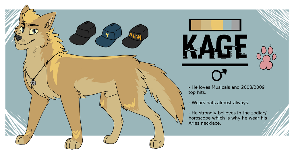 Kage ref sheet by Mana-ghostwolf