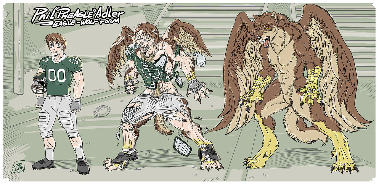 Phil ''Pheagle'' Adler - Eagle-Wolf Form by Pheagle-Adler