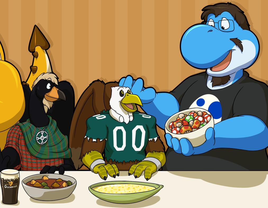 Thanksgiving Dinner by Pheagle-Adler
