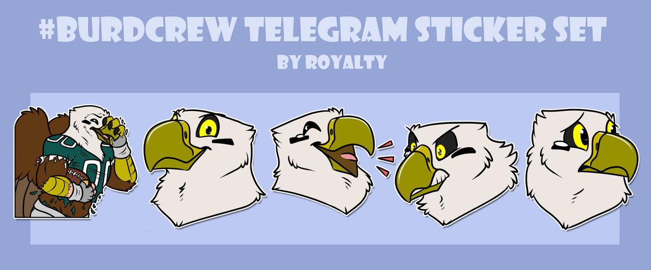 Burdcrew Telegram Sticker Set by Pheagle-Adler on DeviantArt