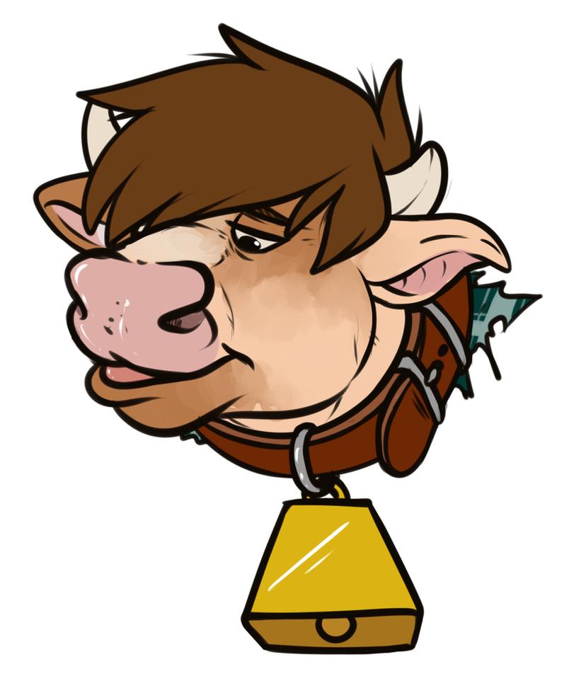 TF Headshot: Happy Cow by Pheagle-Adler