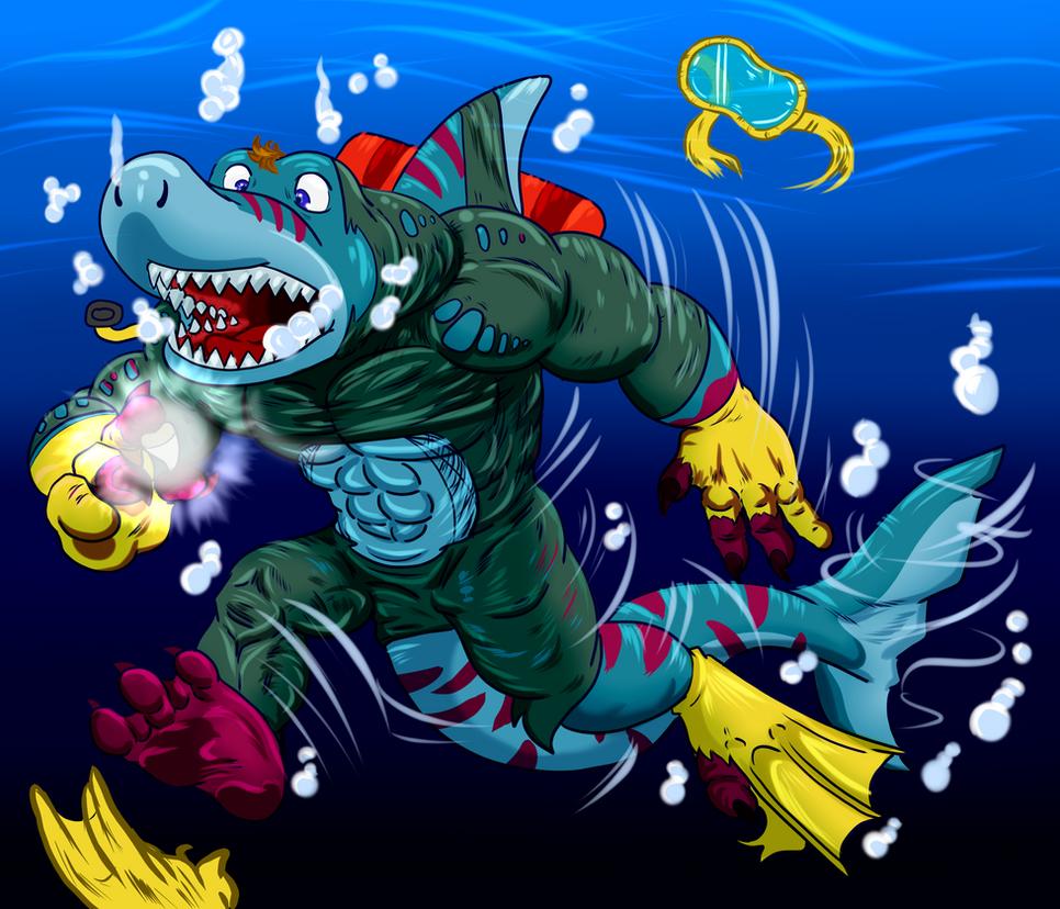 A Radi-Shark Diving Session by Pheagle-Adler