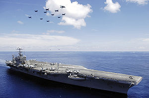 USS Abraham Lincoln  II (CVN 72) by kefkaRaiders