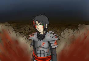 TMNT Gijinka Raph - September (Bloody version) by Kiosa